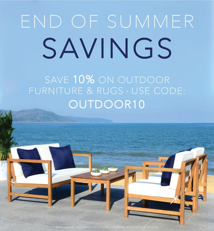 ⛱️🌺 END OF SUMMER SALE! 🌺⛱️ Save 10% on Outdoor Furniture & Rugs now! decormarket.com - - - - - - - - - - - #save #sale #outdoorsale #outdoorfurniture #backyardfurniture #backyarddreams #patiofurniture #deckfurniture #outdoorfurnituresale #outdoorsaleevent #outdoorevent #saveonoutdoors #saveonoutdoorfurniture #safaviehfurniture #safaviehoutdoorfurniture #outdoorrugs #outdoorsets #backyardsets #outdoortable #outdoorbench #outdoorstorage #greatstorage #shopstorage #decormarket #bigsavings