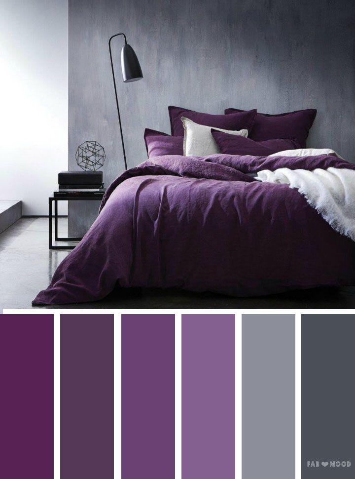 Grey and purple color inspiration  Color Palettes