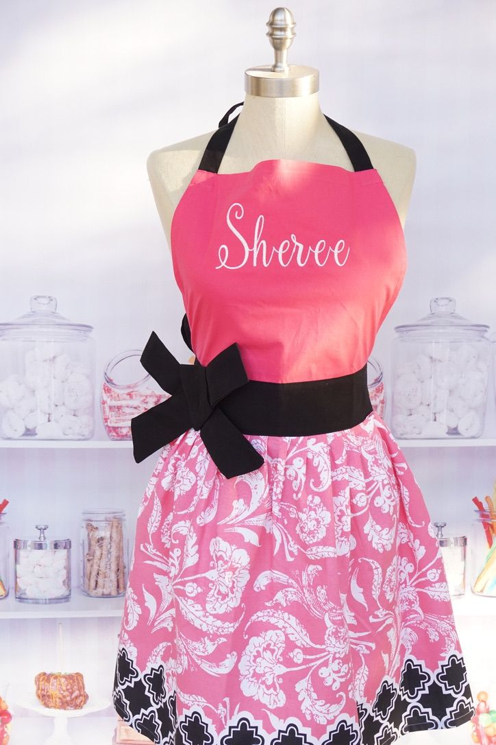 Pink Personalized Apron