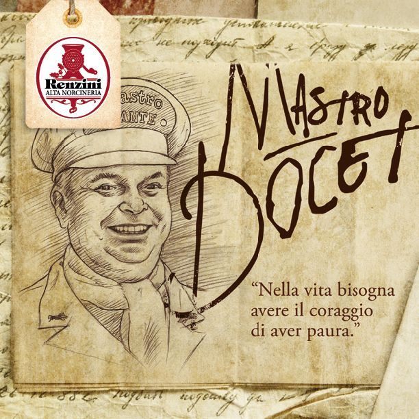 """I motti di #Mastro #Dante: """"Nella vita bisogna avere il coraggio di avere paura"""" #renzini"""