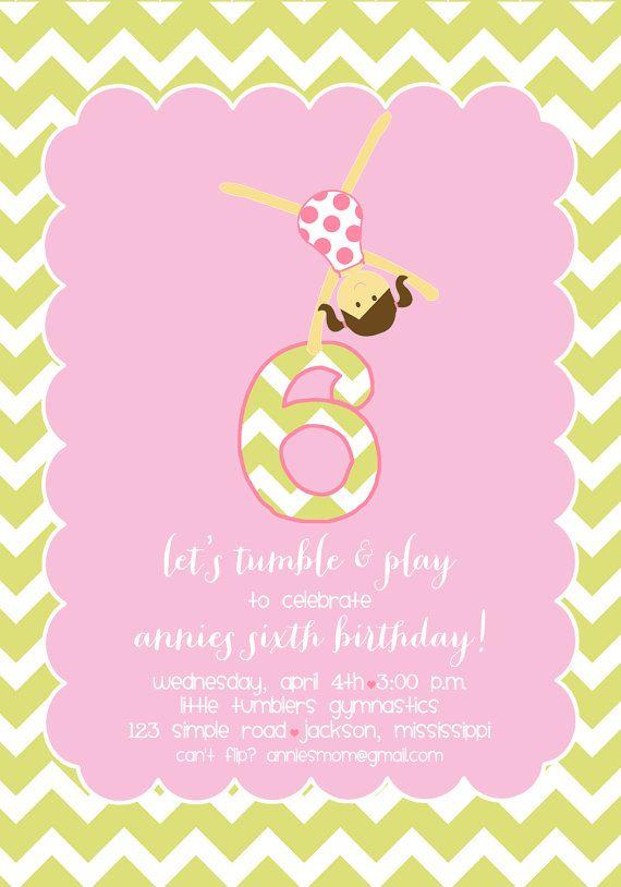 13 best Gymnastics party images on Pinterest Gymnastics birthday - best of invitation wording for gymnastics party
