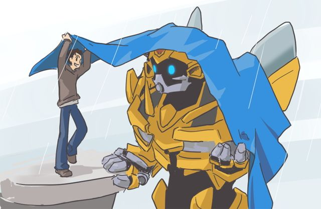 Sam and Bumblebee by yo-3.deviantart.com #Transformers