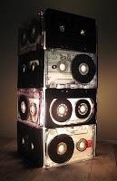 PinkBird's Nest: How to Make a Cassette Tape Lamp: A Tutorial: Tutorials, Crafts Ideas, Cassette Tape Lamps, Cool Lamps, Tables Lamps, How To, Recycled Cassette, Crafts Diy, Cassette Lamps