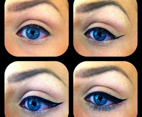 Winged eyeliner - I have that ELF eyeliner, and I love it!