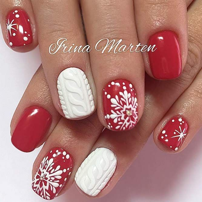 503 best red nail designs images on pinterest acrylics black winter nail designs are admired by everyone since we all love winter holidays to red nail artred prinsesfo Gallery
