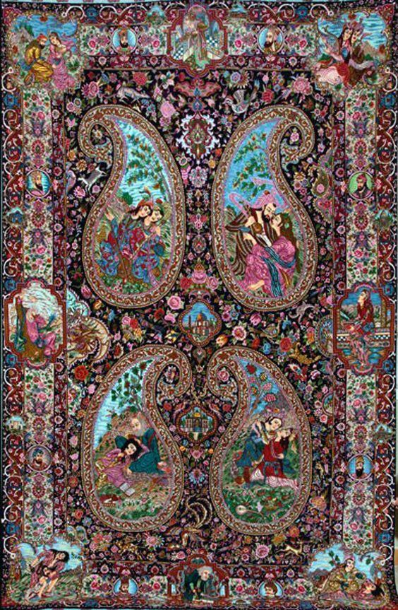 """Специально для моей хорошей подруги Александры Каширской - Шекспировские амуры, черти, змеи и «Сон в летнюю ночь» (за окном сегодня +15 же) нашелковом ковре """"Табриз"""" (этот ковер не наш - просто этот очень поэтичен как Персидские мотивы С. Есенина)  #дизайн #дизайнинтерьера #дизайндома #дизайнер #ручнаяработа #carpet#carpets #interior #designer #design #восточныековры #коверручнойработы #коверкилим #антиквариат #восточныйковер #винтаж #стариннаямебель #ретро #винтажныековры #восточнаямебель…"""