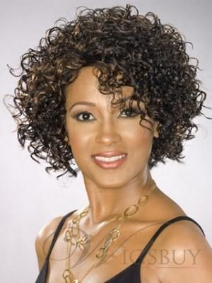 Hot Sale Top Quality African American Hairstyle Short Tight Curly Brown Lace Wig 100% Human Hair 10 Inches