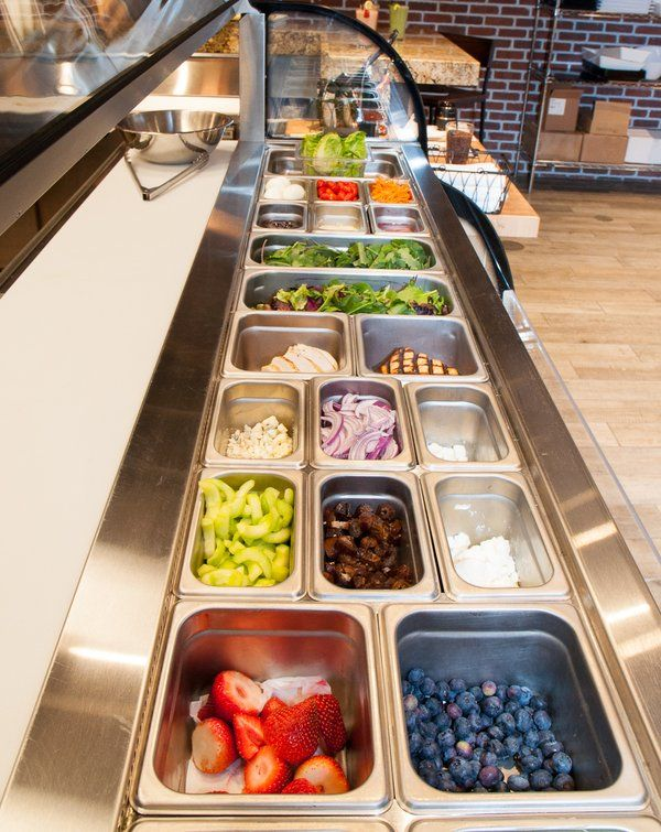 Stop by the market to try one of our delicious and healthy custom-made salads from our salad bar!