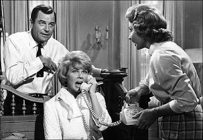 """Gig Young, Doris Day, and Audrey Meadows in """"That Touch of Mink."""" (1962)"""