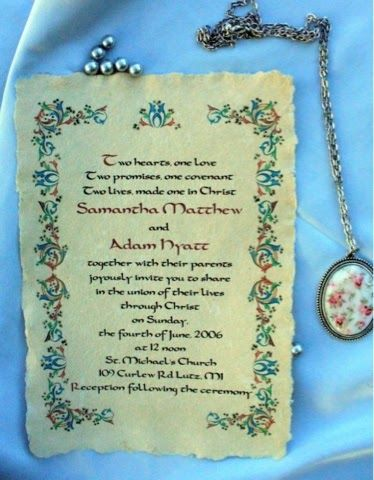 renaissance wedding invitation medieval wedding ideas - Medieval Wedding Invitations