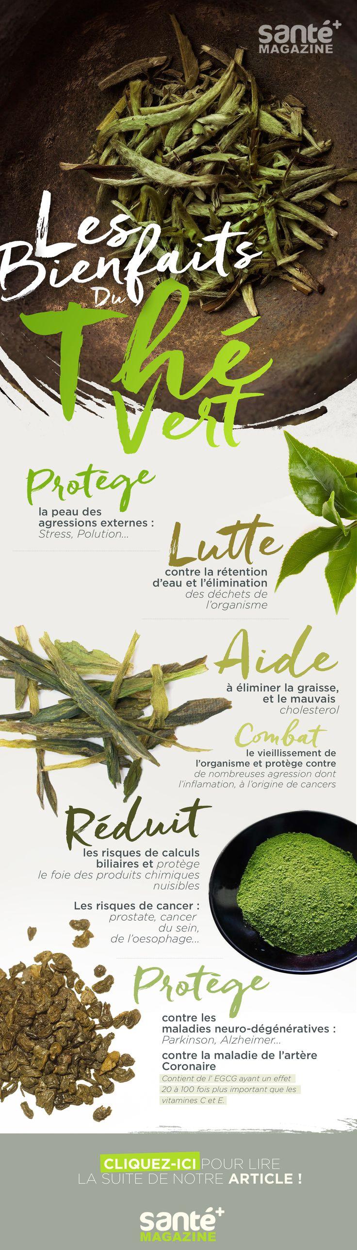 © Santé + Magazine - Thé vert, Bienfaits, Antioxydant, Santé, Nutrition, Bien-être,