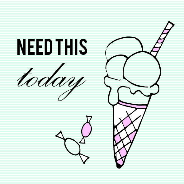 design with love. Minimal, pastel and typography, icecream illustration