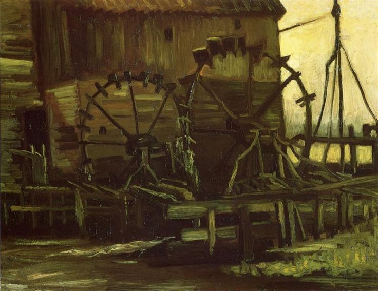 Water Wheels of Mill at Gennep - Vincent van Gogh