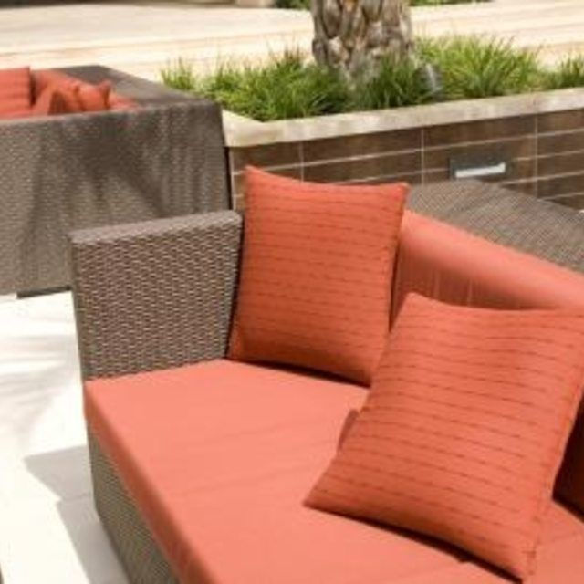 Give your old patio furniture new life when you recover patio cushions without sewing..
