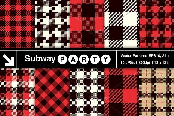 Vector Lumberjack Plaid Patterns by SubwayParty on @creativemarket