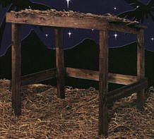 outdoor nativity stable - yep...totally do-able!!