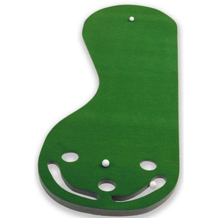 Par 3 Holes Practice Putting Green Indoor Golf Mat Training Aid Equipment  #Puttabout