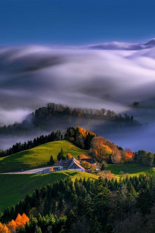Die Nebelwelle in der Schweizer Belchenregion - Baselland