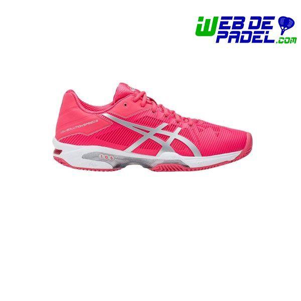 Imagenes de deporte y padel Asics Gel Solution Speed 3 Clay Rosa-plata - http://webdepadel.com/producto/asics-gel-solution-speed-3-clay-rosa-plata/