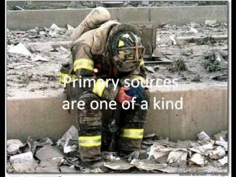 Primary vs Secondary Sources using images from Sept. 11