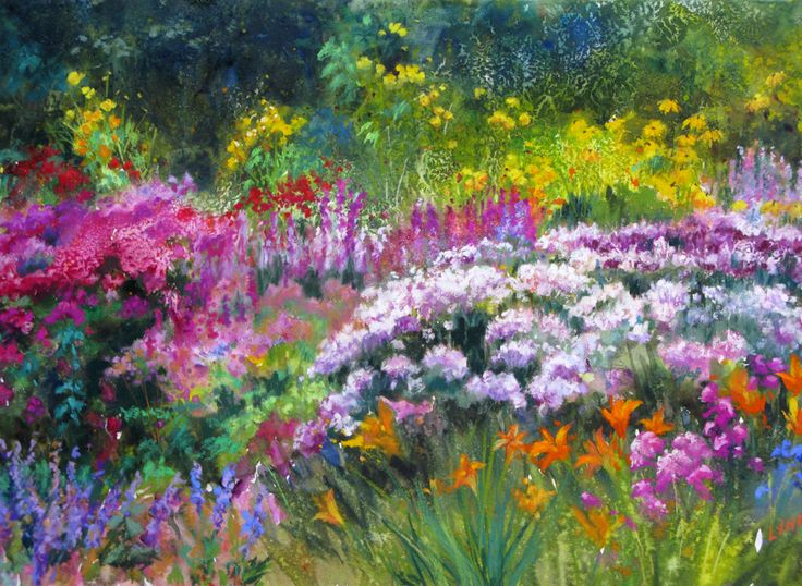 Flower Garden Paintings 381 best flower gardens images on pinterest | flower gardening