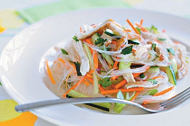 Chicken Thai noodle salad