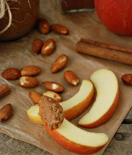 Maple Cinnamon Almond Butter:  2 cups roasted unsalted almonds, 2 tablespoons coconut oil, melted 1 ½ teaspoons ground cinnamon, 1 tablespoon maple syrup, at room temperature¼ teaspoon sea salt