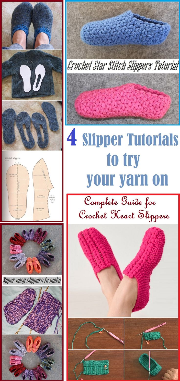 74 best slippers and socks images on pinterest crochet patterns 4 slipper tutorial to try your yarn on bankloansurffo Image collections
