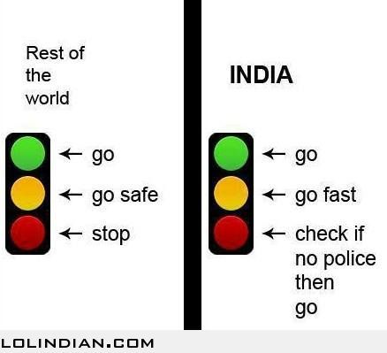 traffic signals in india