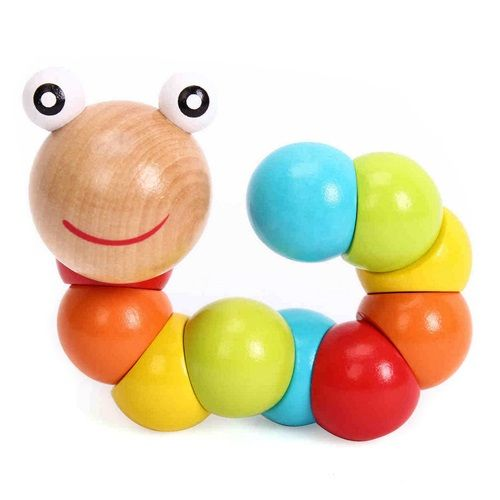 Wooden Caterpillar Toy for Baby and Kids Educational and Creative Gift
