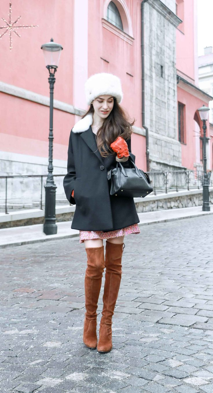 Fashion Blogger Veronika Lipar of Brunette from Wall Street on what to wear for an Outdoor New Year's Eve Party