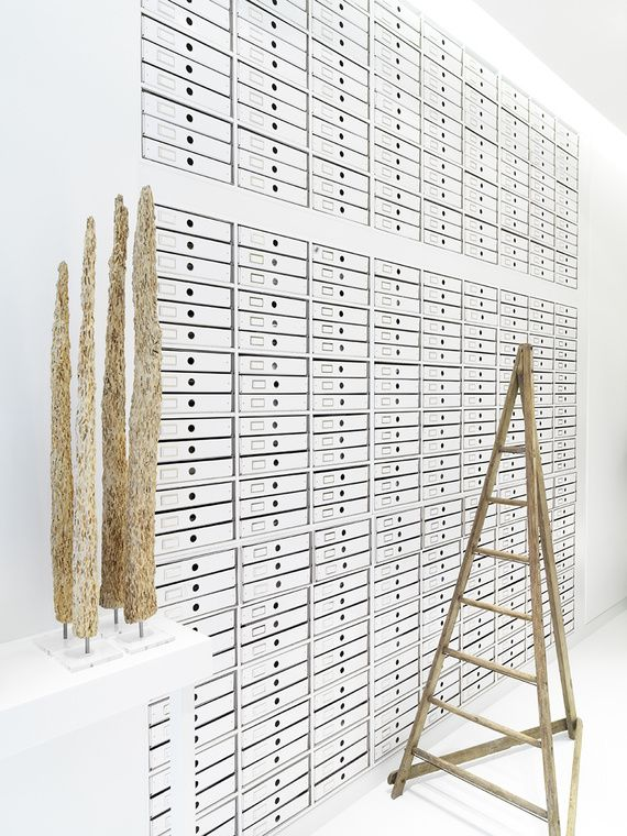 I think this is at a museum, but it would be amazing in a home if you had a collection of small objects. The storage system itself is a beautiful display.: Bathroom Design, Gifts Cards, Amazing Storage, Crafts Rooms, Work Spaces, Storage Drawers, Dreams Storage, Architecture Interiors Design, Style File