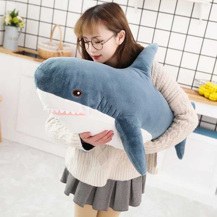 mini shark pillow pet