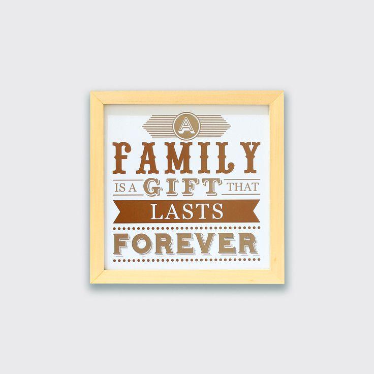 A Family Is A Gift (MAR16-12) - Kemanapun kamu pergi, tempat kembali yang paling nyaman adalah keluarga. Benar? Because family lasts forever.