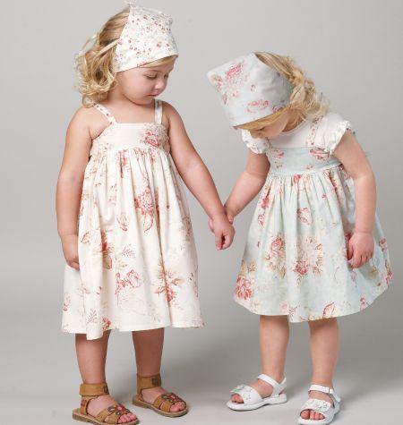 M6529: Dress Tops, Dresses Tops, Mccall 6529, Mccall Patterns, Girls Dresses, Headbands, Bride Dresses, Toddlers Dresses Patterns, Sewing Patterns
