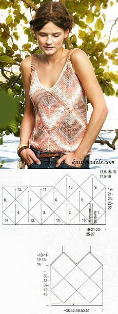 Melange top in the technique of patchwork