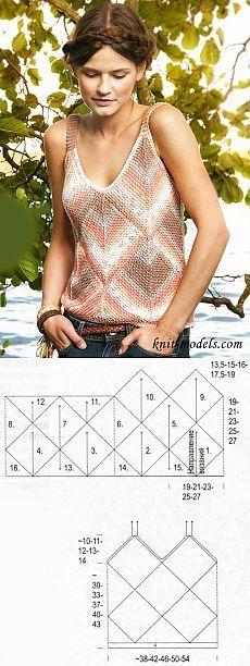 Melange top in the technique of patchwork