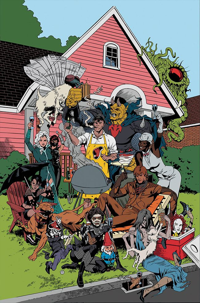It's a big turning point for the Secret Six and all of their friends are attending the party. It's Strix versus Shiva! The Six versus the League of Assassins!