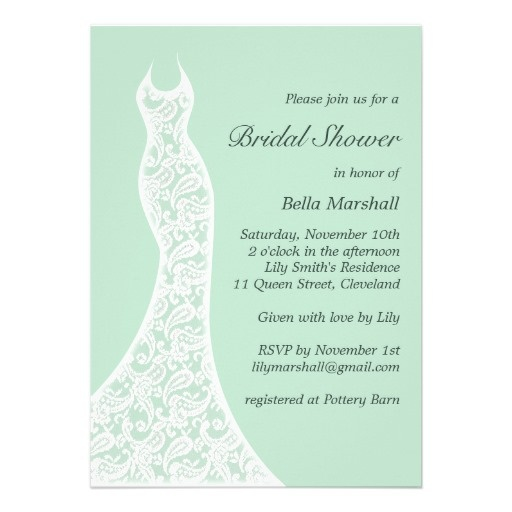 Mint Green Bridal Shower Invitation