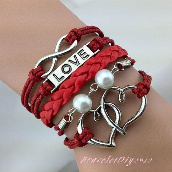 Infinity Bracelet Heart to Heart Bracelet Love by BraceletDiy2012, $3.99