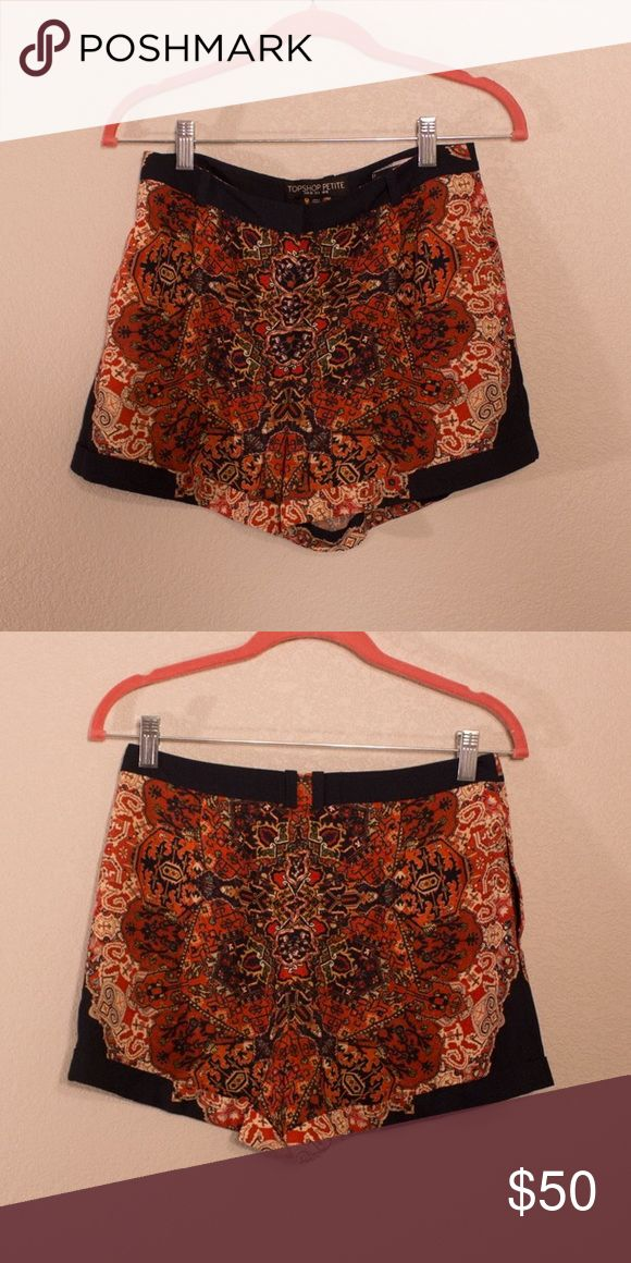 Womens Multi Colored Pattern Topshop Shorts Womens Topshop Shorts | Size: PETITE 6 | Condition: 9/10 (PREOWNED, LIKE-NEW!) Features a printed, bright, multi colored pattern that is guaranteed to stand out everywhere you go! | ***LIGHTNING FAST SHIPPING!!*** Topshop Shorts Skorts