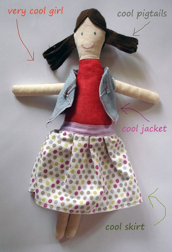 very #cool #girl #plustoy, #softy #doll #little girl