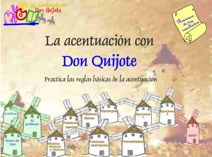 La acentuación con Don Quijote   Juego didáctico. Lengua