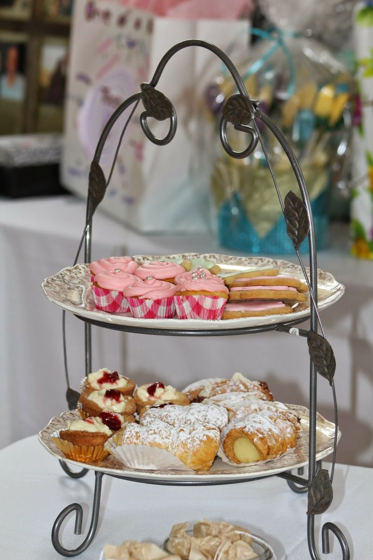 Vintage Themed Afternoon Tea Bridal Shower tiered