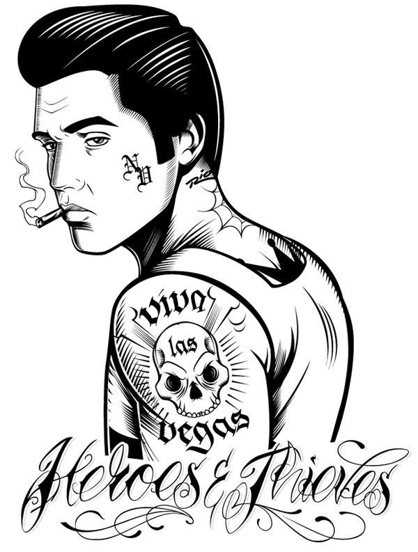15 best Elvis coloring pages... images on Pinterest ...