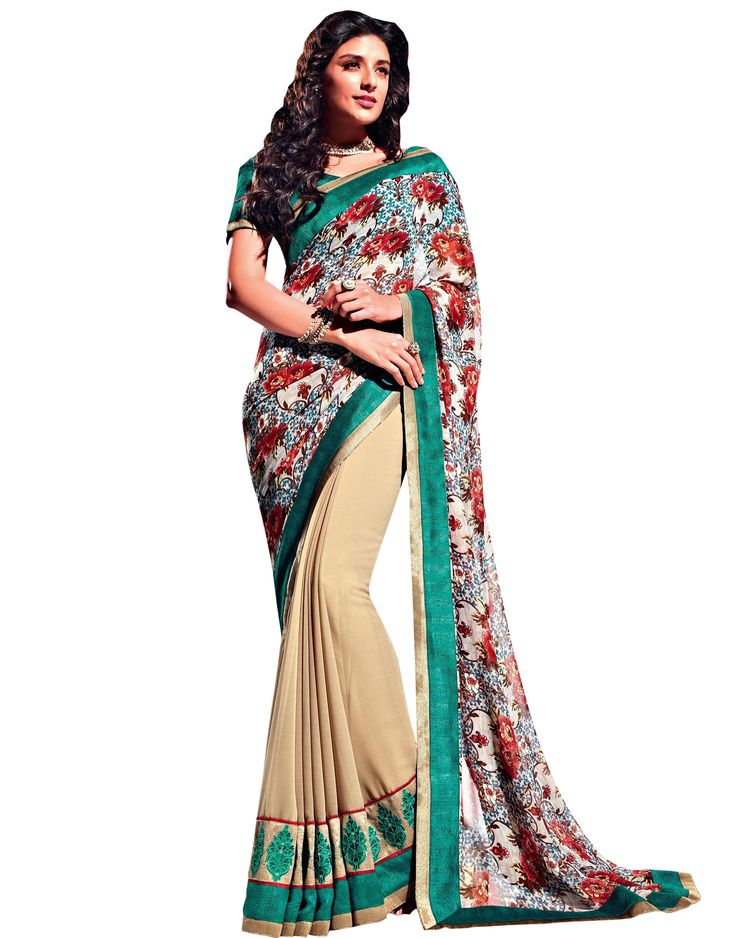 Amazing Cream resham work Satin embroidered saree.This attire is beautifully adorned with heavy Zari with Resham Embroidery and Lace Border worked Saree.