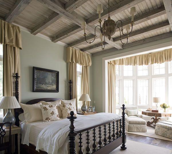 Beautiful bed!  James Michael Howard: Interior, Dream, Guest Bedroom, Sitting Area, Phoebe Howard, Master Bedrooms, Ceilings, Bedroom Ideas, Beautiful Bedrooms