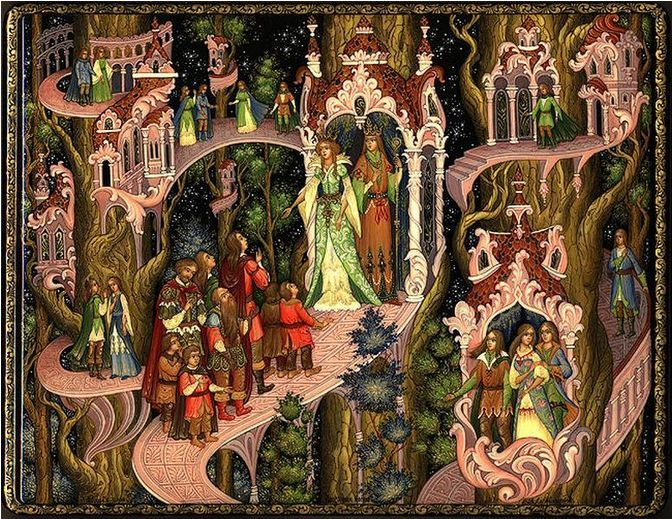 Zheryakov Aleksey, Palekh lacquer box, The Lord of the Rings