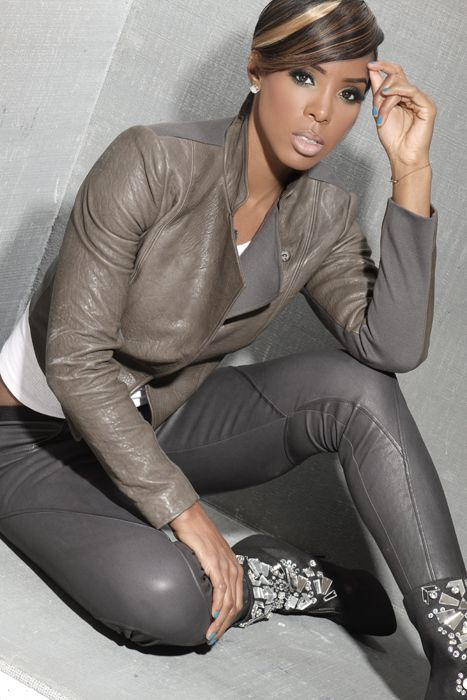 "To my stylist. I love the color and cut of this jacket especially against chocolate skin. Kelly Rowland is one of my ""mini"" style icons. I dont like the pants."