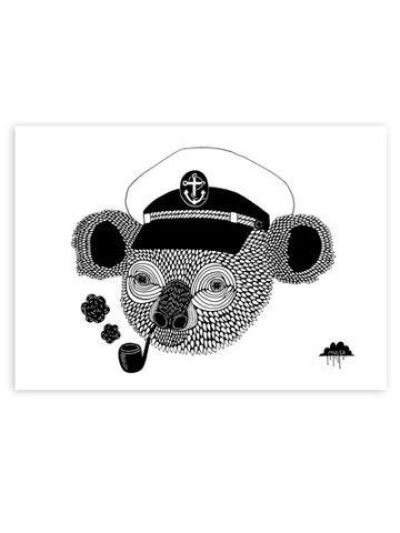 Captain Kieran Koala Print